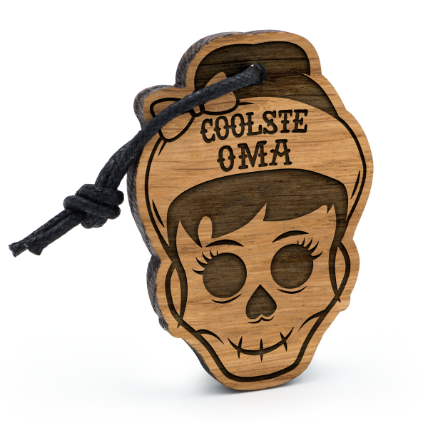 Coolste Oma - Schlüsselanhänger Totenkopf