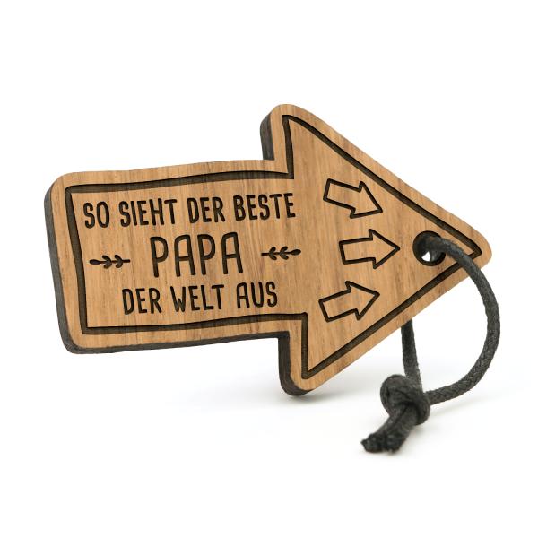 So sieht der beste Papa der Welt aus - Schlüsselanhänger Pfeil