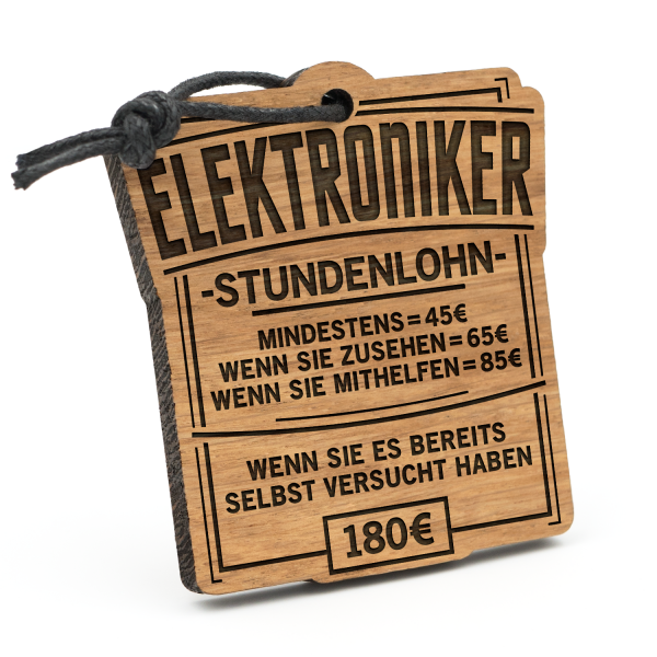 Stundenlohn Elektroniker - Schlüsselanhänger