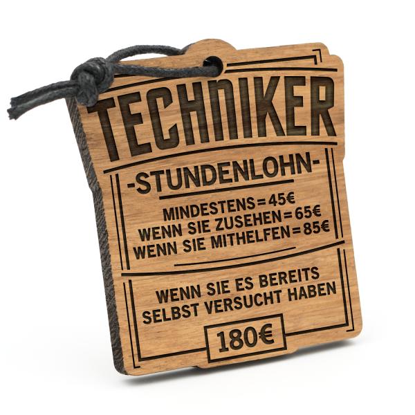Stundenlohn Techniker - Schlüsselanhänger