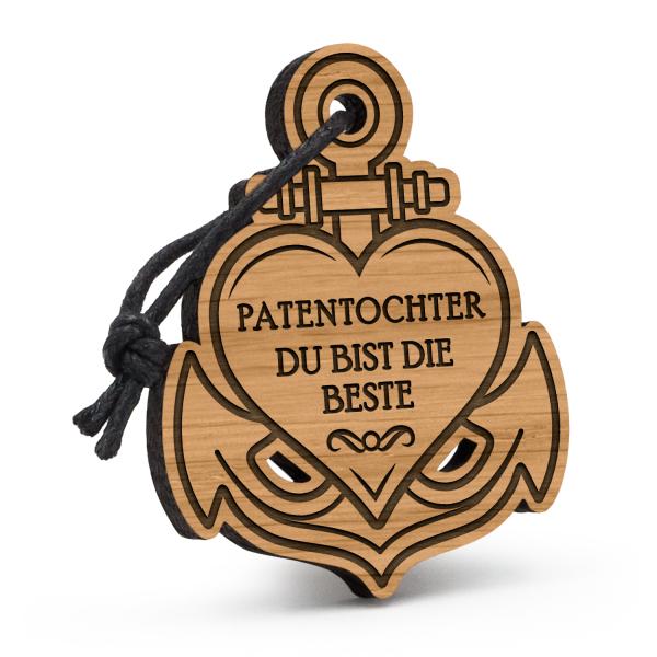 Patentochter - Du bist die Beste - Schlüsselanhänger Anker mit Herz