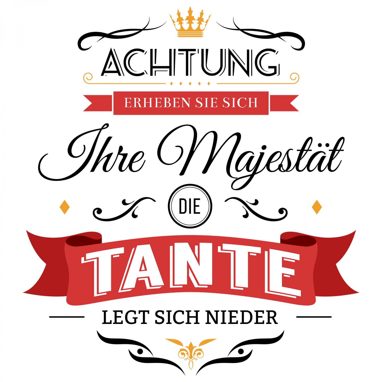 Majestat Tante Kissen 40x40 Cm Geburtstag Geschenk Idee Geburt