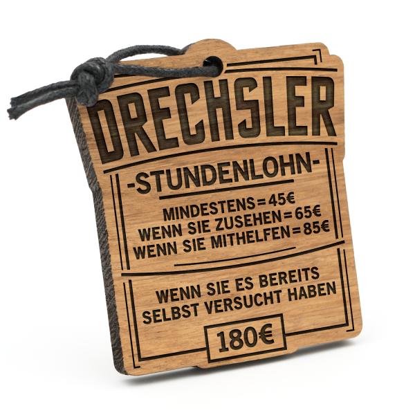 Stundenlohn Drechsler - Schlüsselanhänger