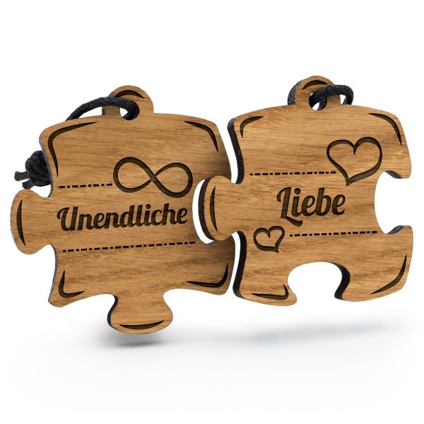 Unendliche Liebe - Schlüsselanhänger Puzzle