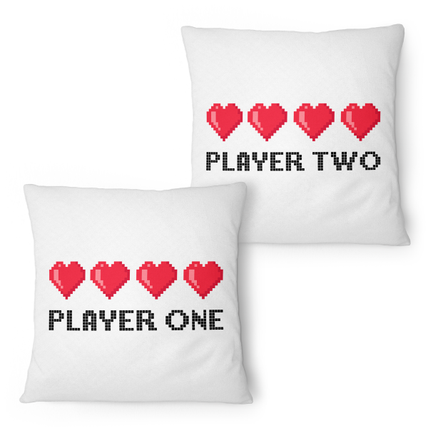 Player One & Player Two - Partner Kissen