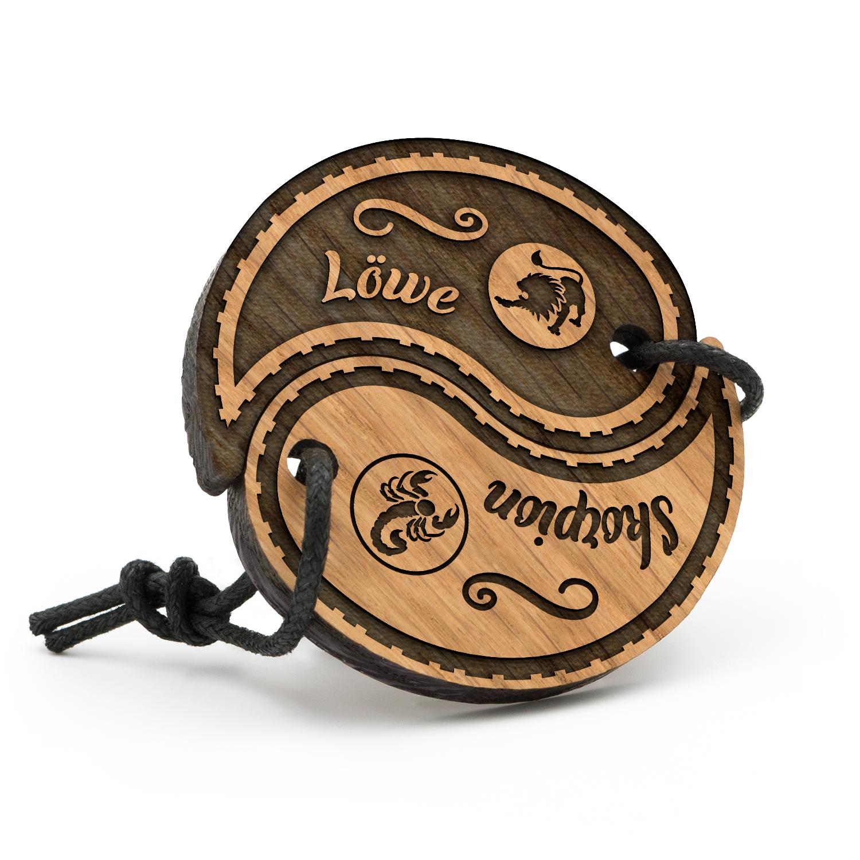 Löwe - Skorpion - Sternzeichen Partner Schlüsselanhänger