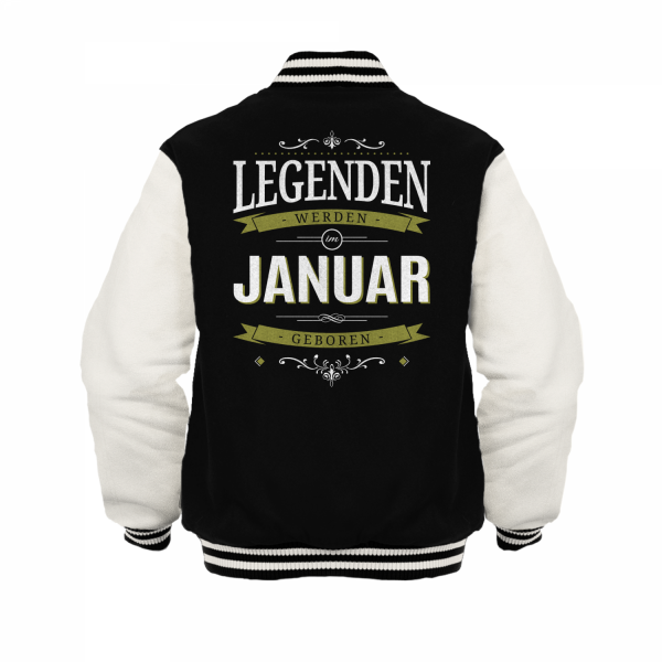 Legenden werden im Januar geboren - Herren College Jacke