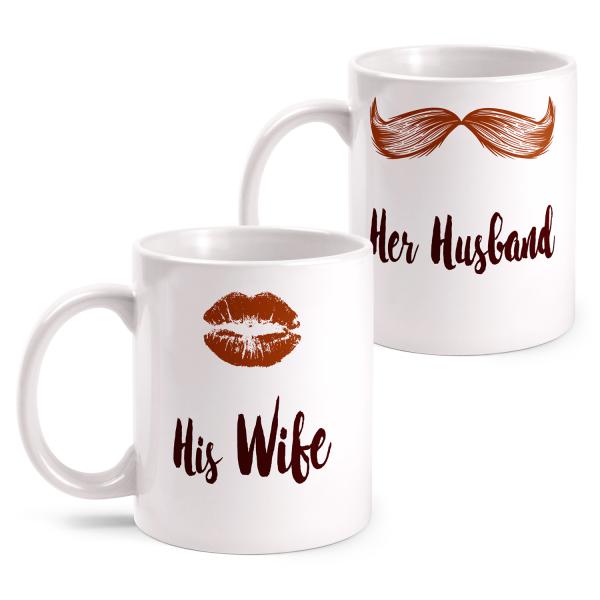 Her Husband - His Wife - 'Til Death Do Us Part - Partner Tasse