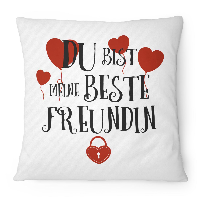 du bist meine beste freundin kissen kissen fashionalarm. Black Bedroom Furniture Sets. Home Design Ideas