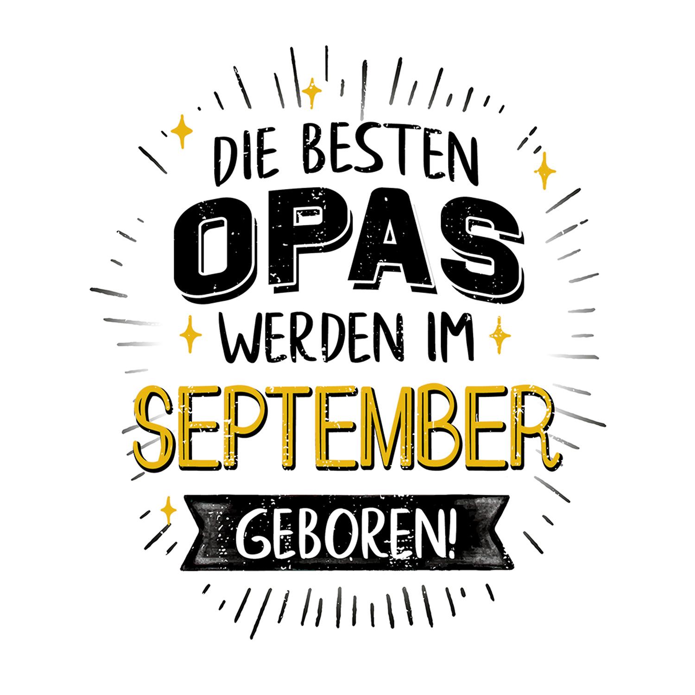 September Opa Tasse mit Spruch Motiv Geburtstag Geschenk Großvater Geburt Baby