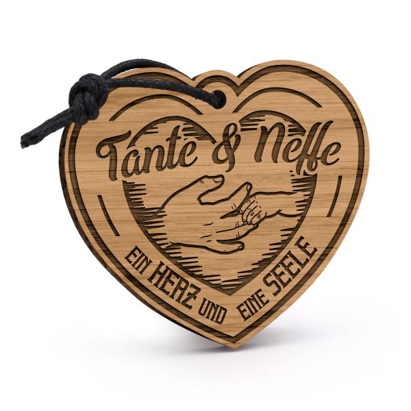 Tante & Neffe - Ein Herz und eine Seele - Schlüsselanhänger