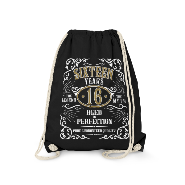 Sixteen Years Aged To Perfection - 16 Jahre Whiskey Label - Turnbeutel