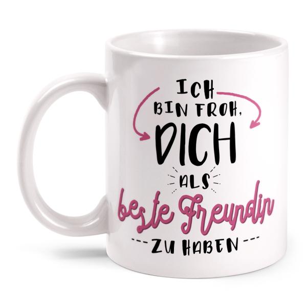 Details Zu Beste Freundin Tasse Spruch Froh Geschenk Idee Geburtstag Freundschaft Frauentag