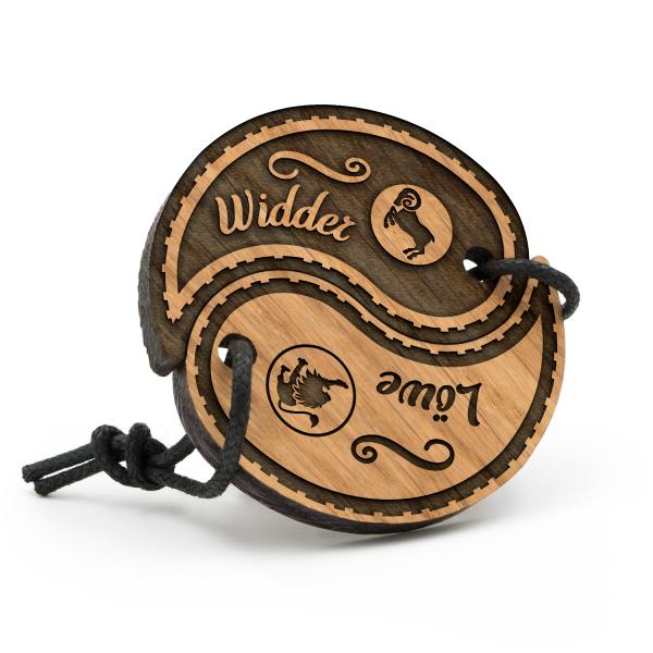 Widder - Löwe - Sternzeichen Partner Schlüsselanhänger Yin Yang