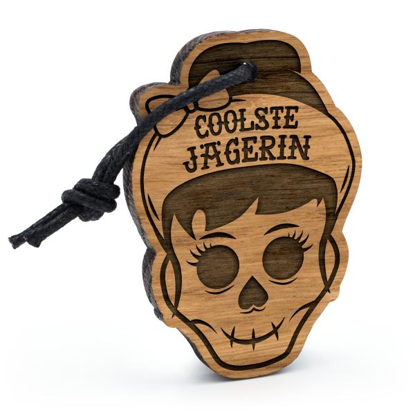 Coolste Jägerin - Schlüsselanhänger Totenkopf