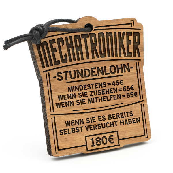 Stundenlohn Mechatroniker - Schlüsselanhänger