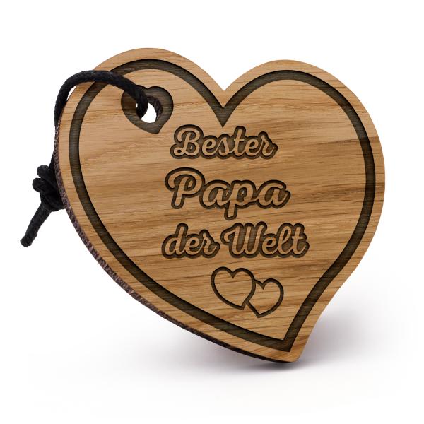 Bester Papa der Welt - Schlüsselanhänger Herz