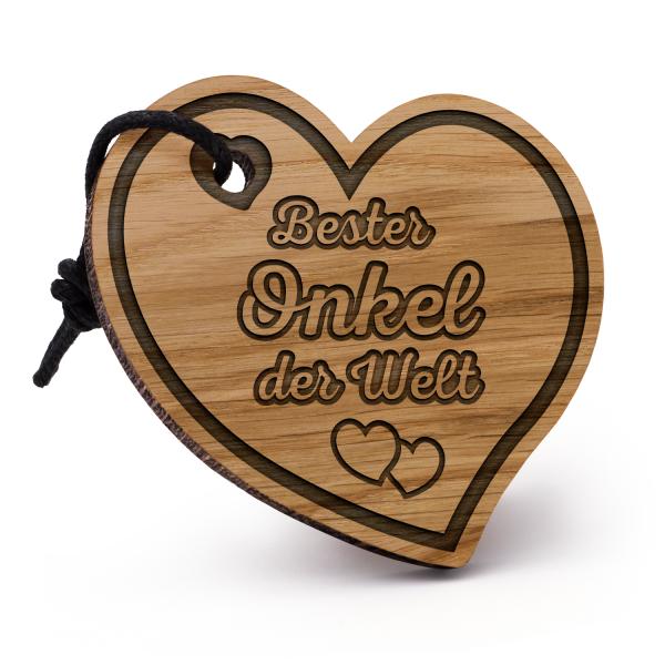 Bester Onkel der Welt - Schlüsselanhänger Herz