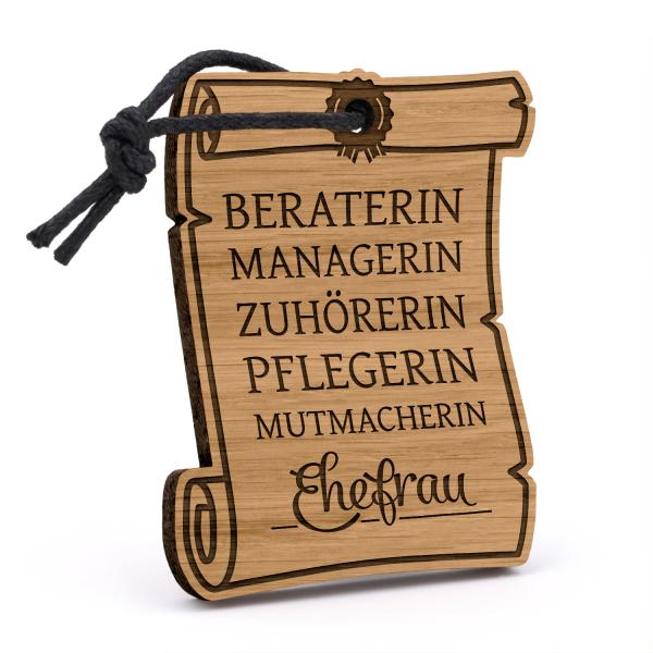 Ehefrau - Urkunde - Schlüsselanhänger