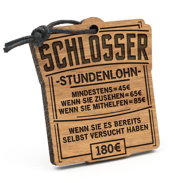 Stundenlohn Schlosser - Schlüsselanhänger