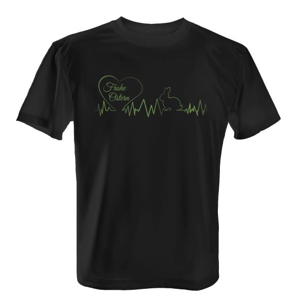 Frohe Ostern - Herzschlag Oster Hase - Herren T-Shirt